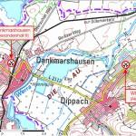 Koordinaten Alexandershall 1: RW 35 73 909, HW: 56 44 132 / Koordinaten Alexandershall 3: RW 43 60 469, HW 56 45 425. (Kartengrundlage:  © GeoBasisDE/TLVermGeo. Gen.Nr.: 01048/2012. www.thueringen.de/vermessung.)